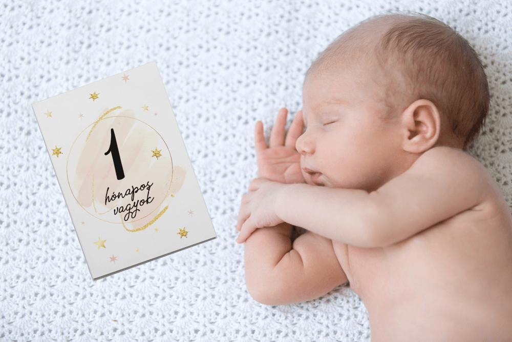 Kisbaba mérföldkő kártya