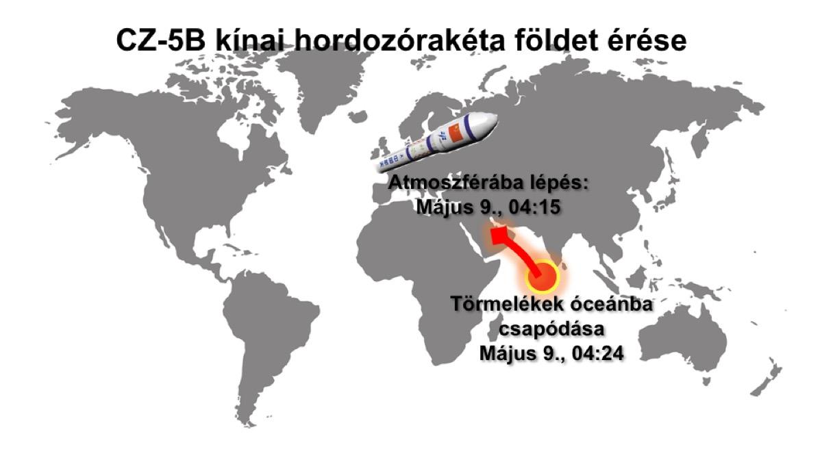 CZ-5B földet érése